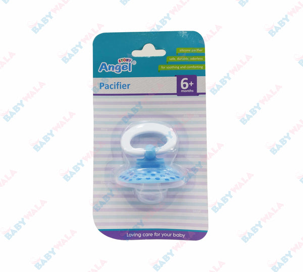 Angel Stony Orthodontic Silicon Pacifier 6m+Blue