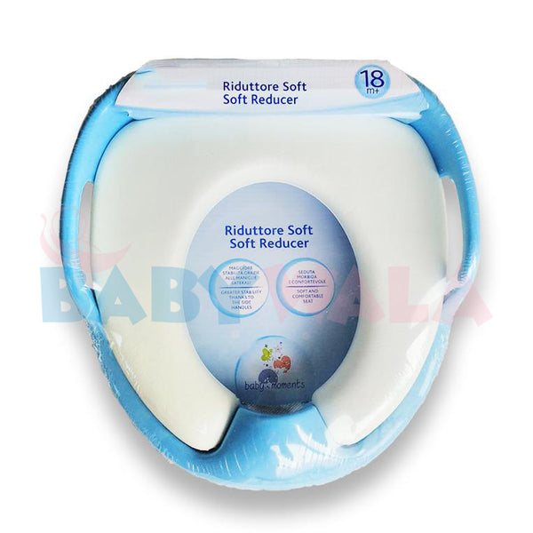 Baby Toilet Seat With Soft Pad & Handle (Blue)