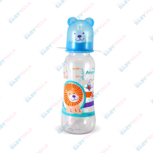 Angel Stony Peanut Shaped Feeding Bottle 6M+ 240ml Blue