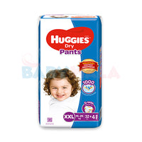 Huggies Dry Pants Pant System, Size-XXL, 15-25kg, 36pcs  (Malaysia)