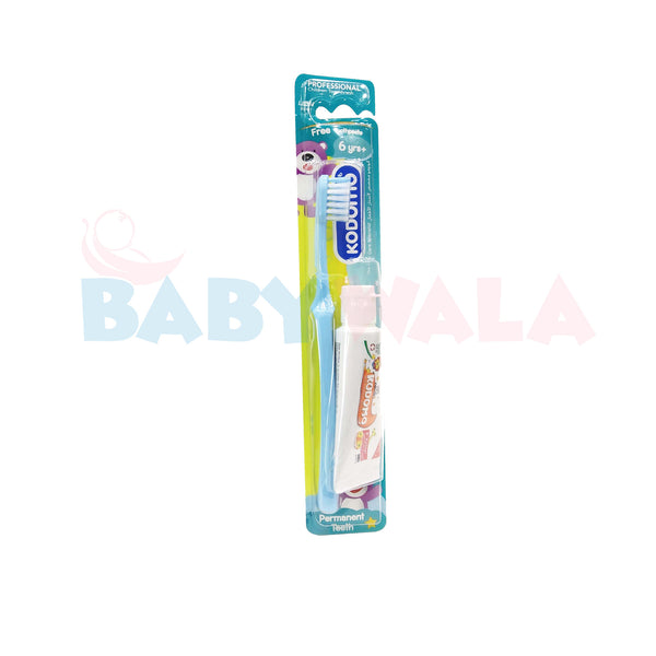Kodomo Toothbrush With Orange Paste 6years+ Blue