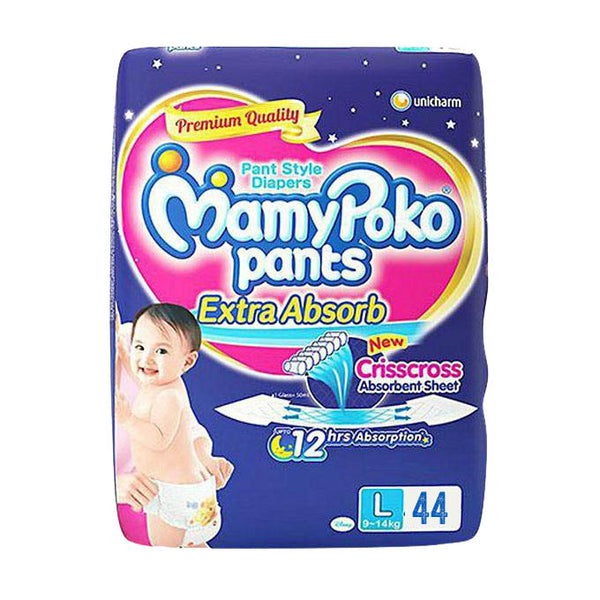 MamyPoko Pants Diapers L 9-14kg 44pcs