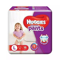 Huggies WonderPants Diapers (L) 9-14kg 16pcs (Indian)