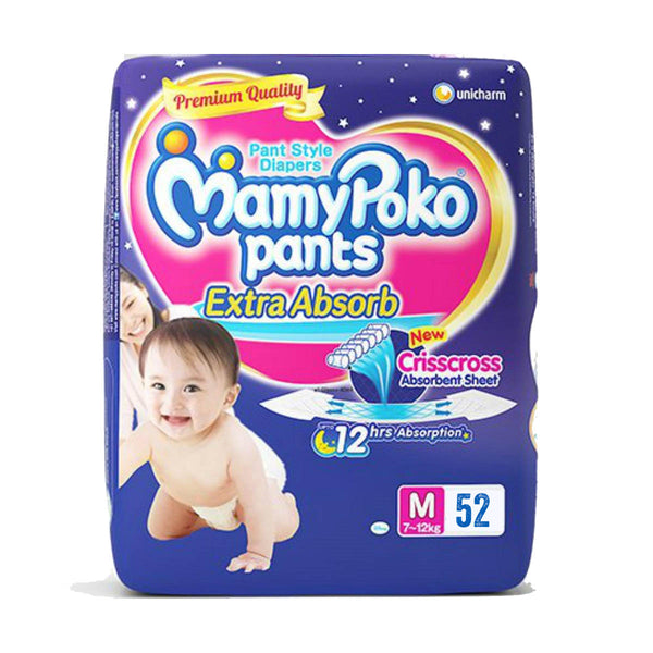 MamyPoko Pants Diapers M 7-12kg 52pcs