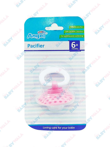Angel Stony Orthodontic Silicon Pacifier 6m+ Pink