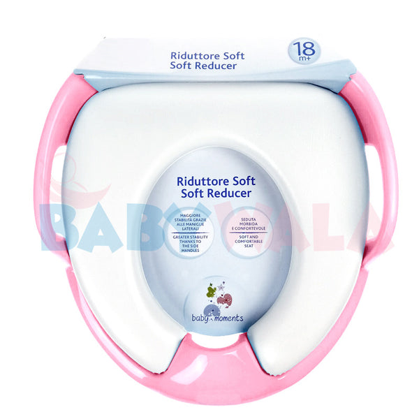 Baby Toilet Seat With Soft Pad & Handle (Pink)