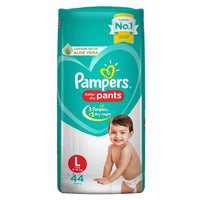 Pampers Baby Dry Diapers Pant System (L) 9-14kg 44Pcs (Indian)