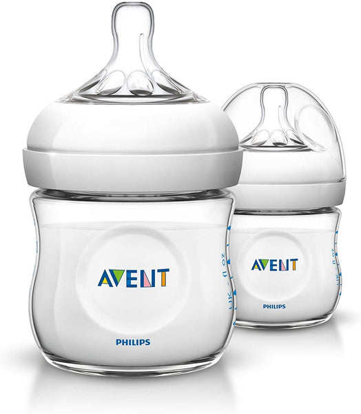 Philips Avent Natural Feeding Bottle 0M+ 125ml (Twin Pack)