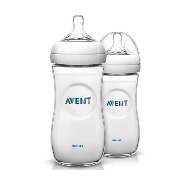 Philips Avent Natural Feeding Bottle 3M+ 330ml (Twin Pack)
