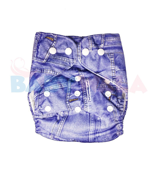 Printed Washable Diaper Pant Jeans