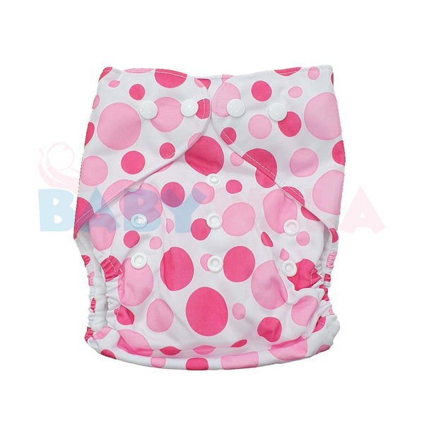 Printed Washable Diaper Ball Pink