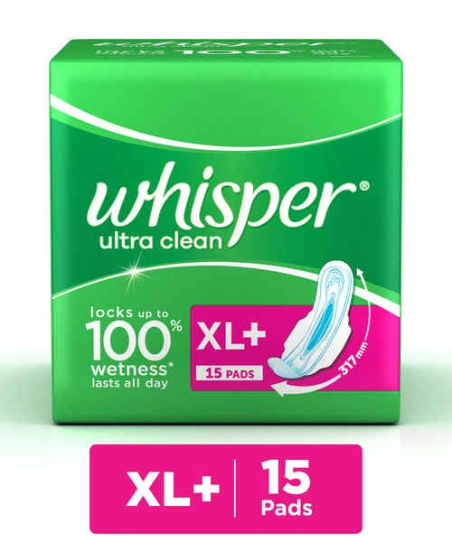 Whisper Ultra Clean (XL+15 Pads)