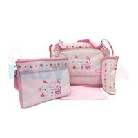 Angelo Multi-Function Travelling Bag 3Pcs Set Pink