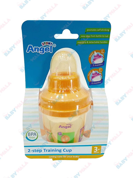 Angel Stony Training Cup (Step-2) 3m+ 150ml Orange