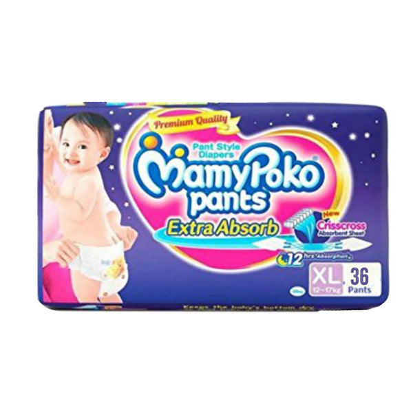 MamyPoko Pants Diapers XL 12-17kg 36pcs