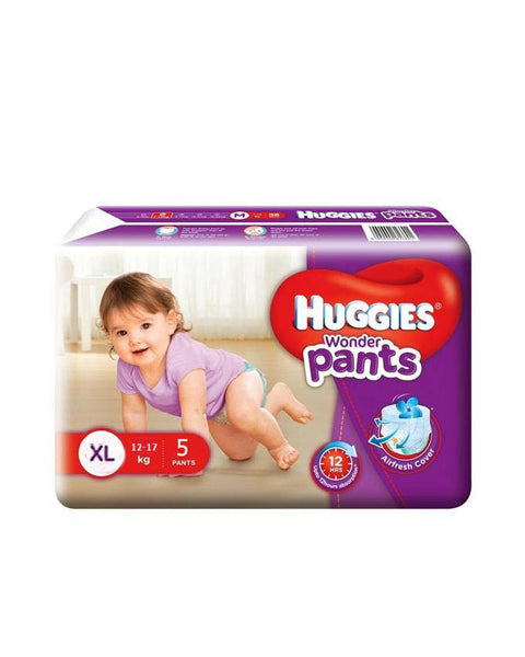 Huggies WonderPants Diapers (XL) 12-17kg 5pcs (Indian)