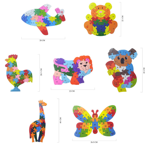 Educational Wooden Toy Animal Shaped Puzzles