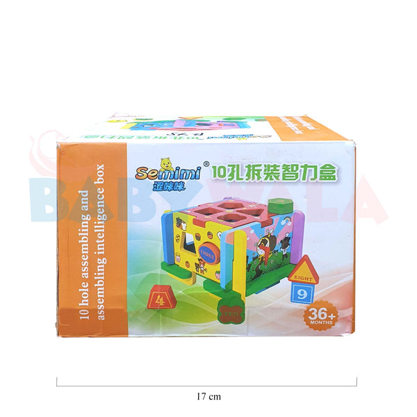 Educational Wooden Toy Multi-functional Assembly Box