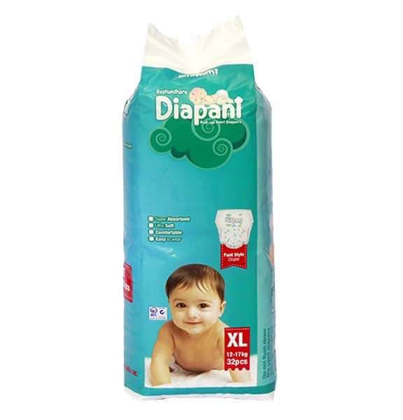 Bashundhara Diapant Diapers (XL) 12-17kg 32pcs
