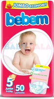 Bebem Baby Belt Diaper 5 Junior 11-25kg 50pcs