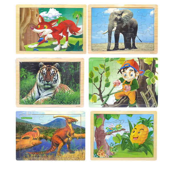 Educational Wooden Toy Jigsaw Puzzle (30 CM)