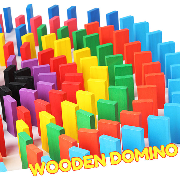 Educational Wooden Toy Domino (100 pcs)