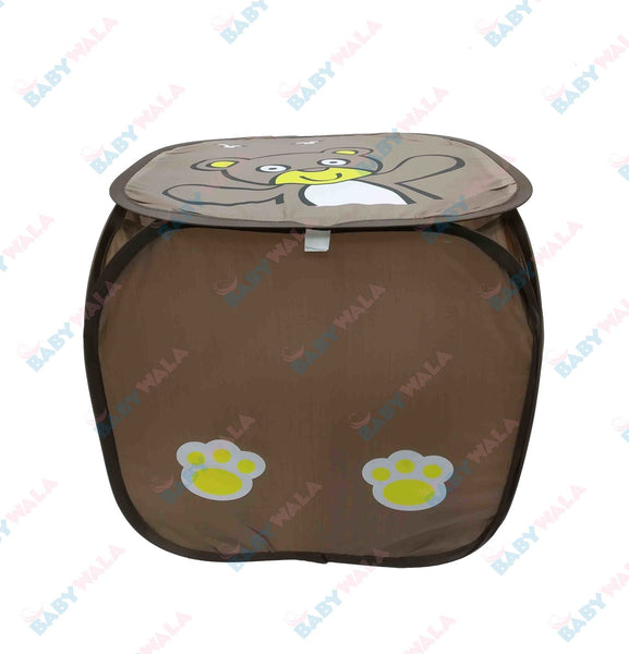 Foldable Baby Laundry Basket Chocolate