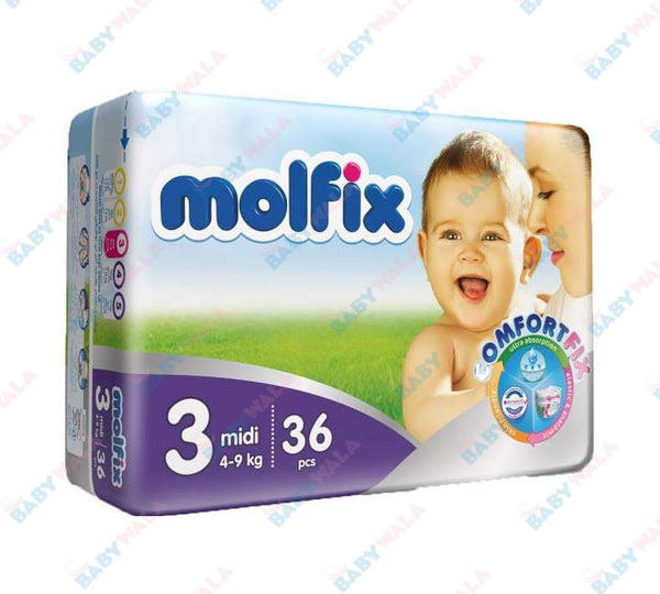 Molfix Diapers Belt System 3 Midi 4-9kg 36pcs