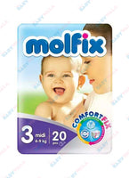Molfix Diapers Belt System 3 Midi 4-9kg 20pcs