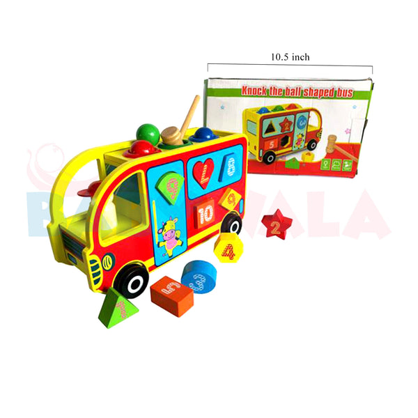 Educational Wooden Toy Multi-functional Bus Puzzle
