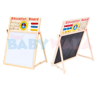 Educational Wooden Toy Magnetic Writing Board (17 inch)