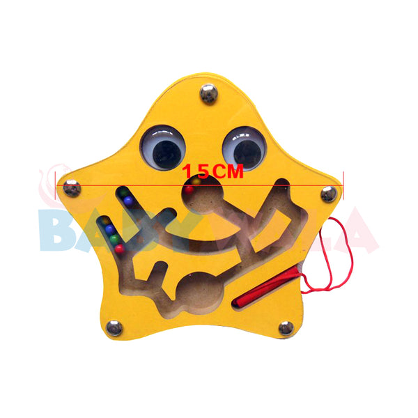 Educational Wooden Toy Magnetic Maze (Star)