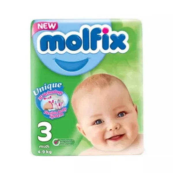 Molfix Diapers Belt System 3 Midi 4-9kg 68pcs