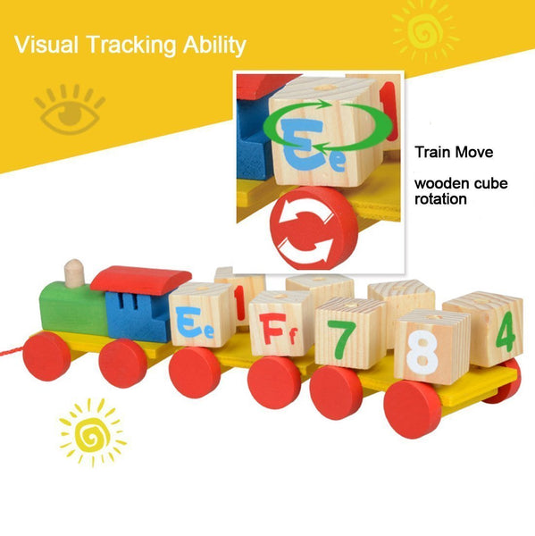 Educational Wooden Toy Numbers Train