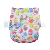 Printed Washable Diaper Owls