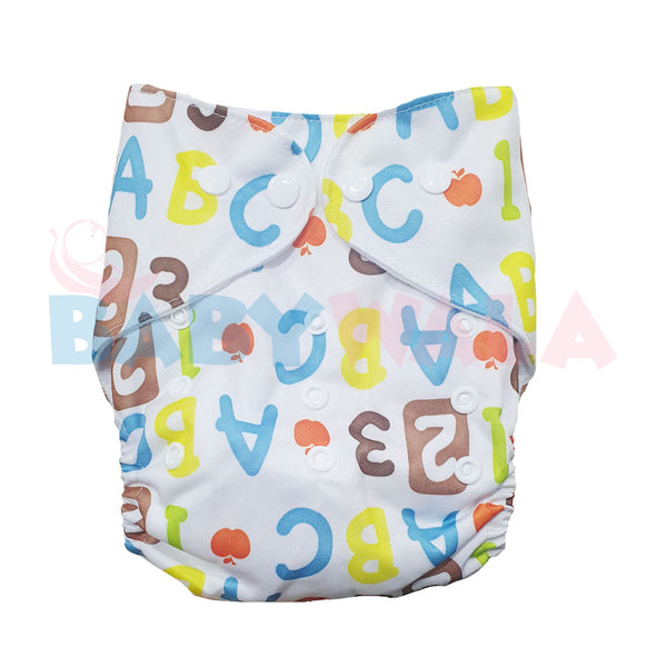 Printed Washable Diaper Alphabets
