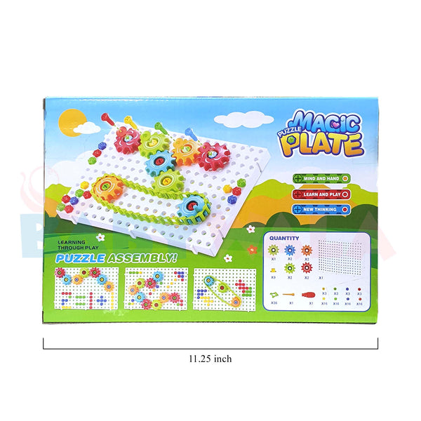 Educational Toy Magic Puzzle Assembly Plate