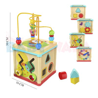 Educational Wooden Toy Multi-functional Wisdom Box