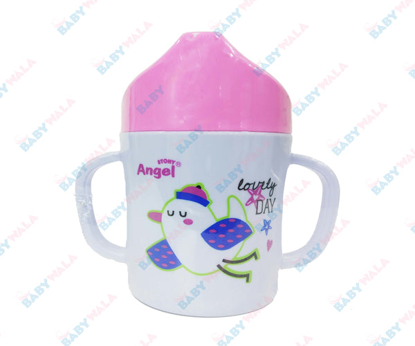 Angel Stony Drinking Cup white  Pink