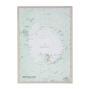 Canvas Wall Decor – Antarctica Map