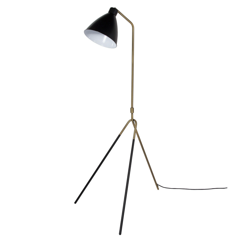 Heron Floor Lamp – Gold/Black