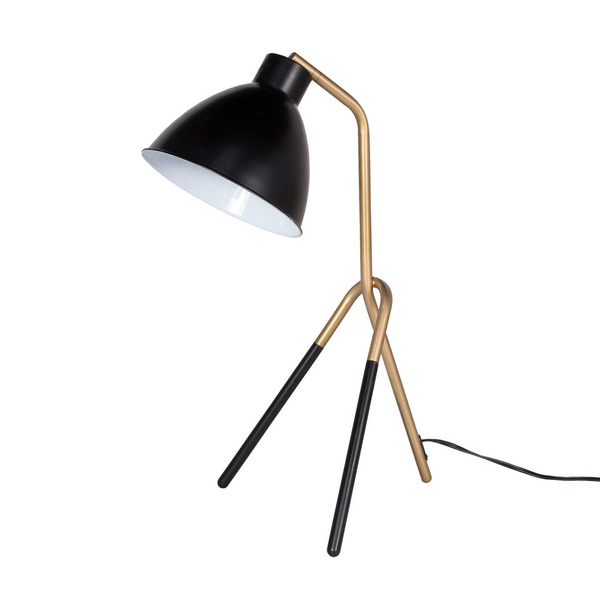 Heron Table Lamp – Gold/Black