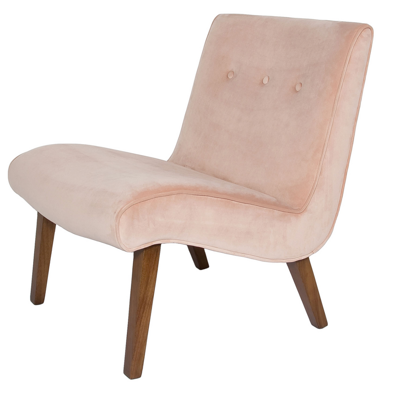 Fifi Occasional Chair – Pale Coral