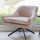 Ethan Swivel Chair – Pale Coral
