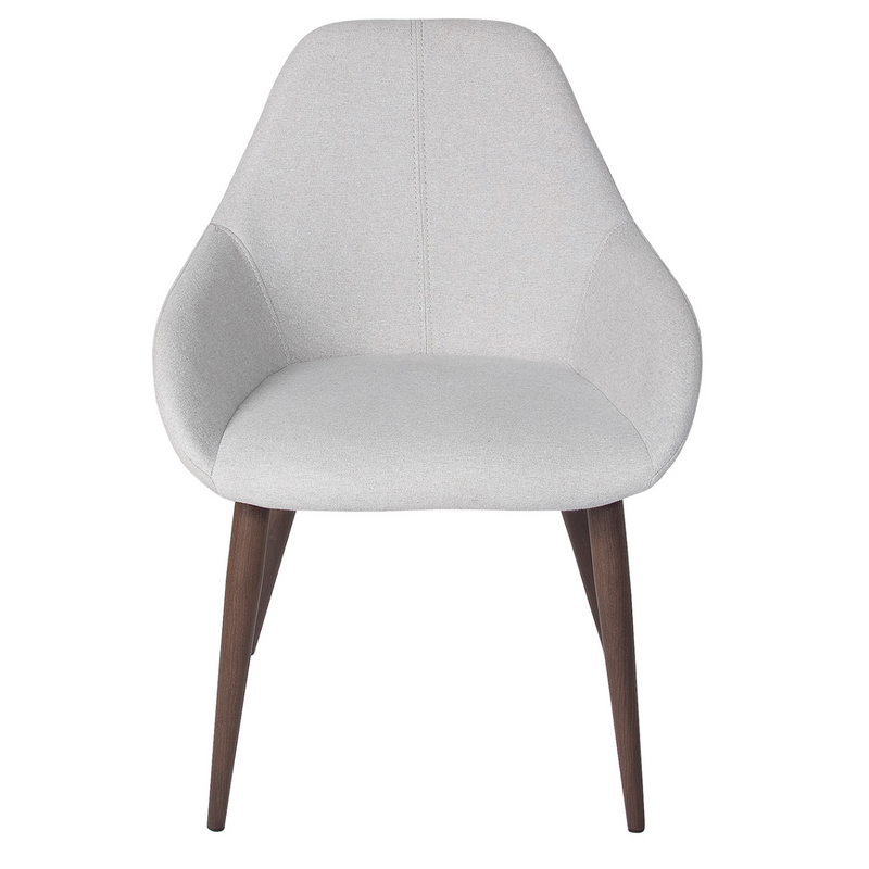 Tina Chair – Dove Grey / Walnut