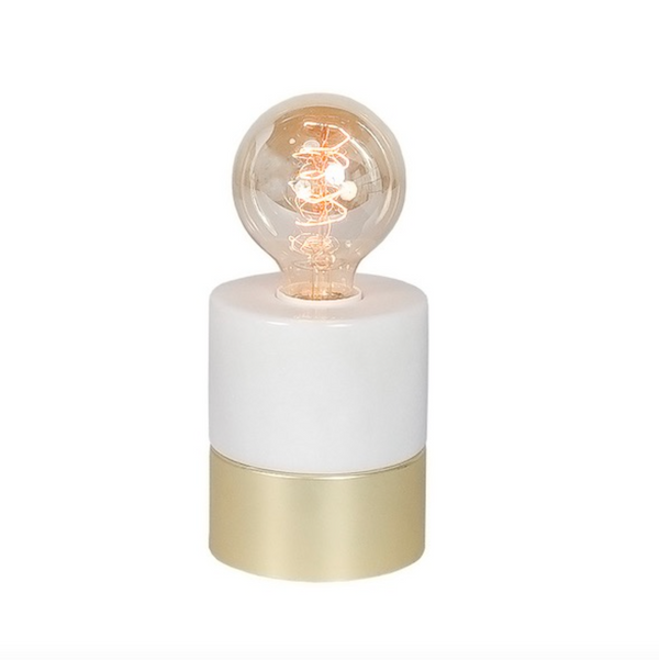 Rift Table Lamp – Marble/Gold