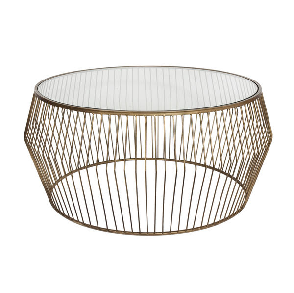 Cyclone Wire Coffee Table – New Gold