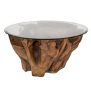 Natura Round Root Coffee Table – Condo Size