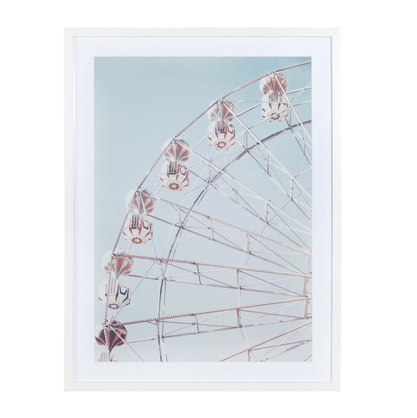 Glass With Wood Frame Wall Decor – Ferris Wheel A