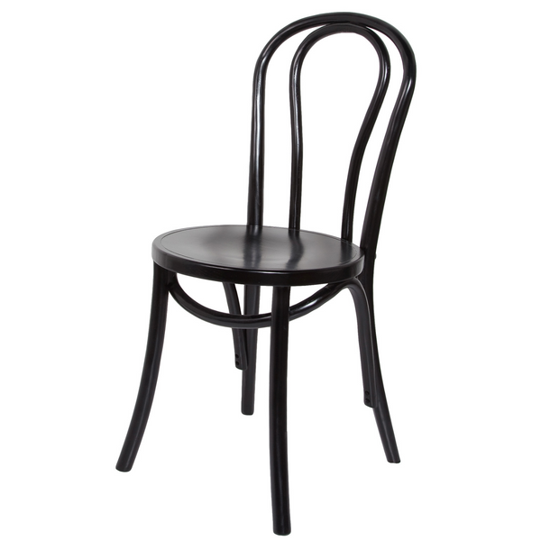 French Bistro Chair – Matte Black